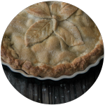 Apple pie rond