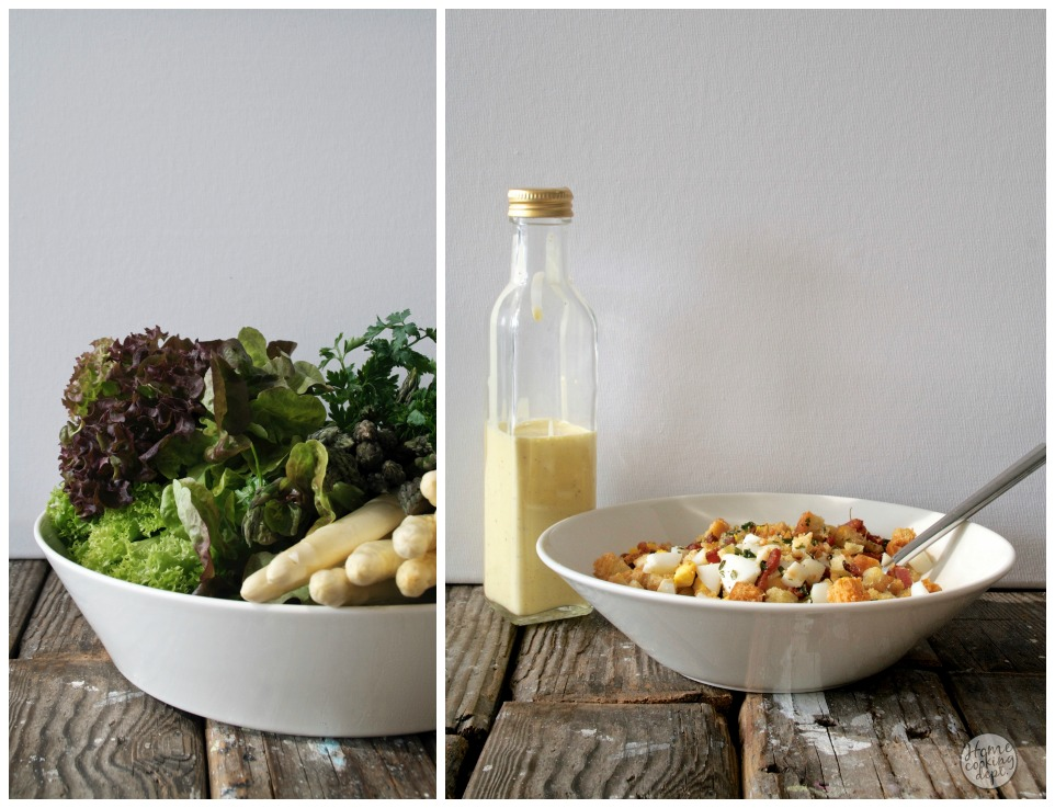 koude salade opmaken