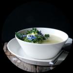 Parmentier soep rond