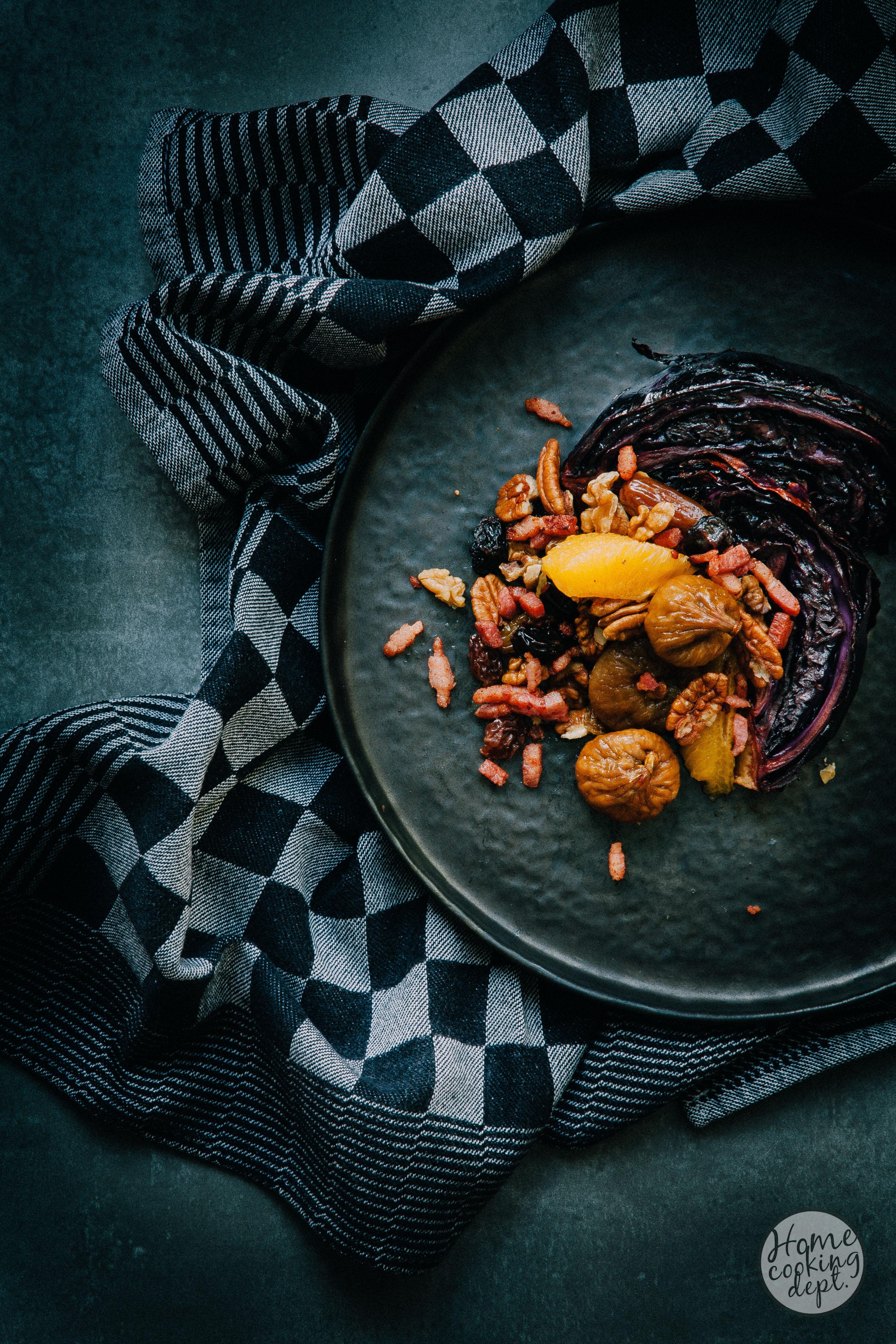 Gekarameliseerde rode kool recept met warme tutti frutti