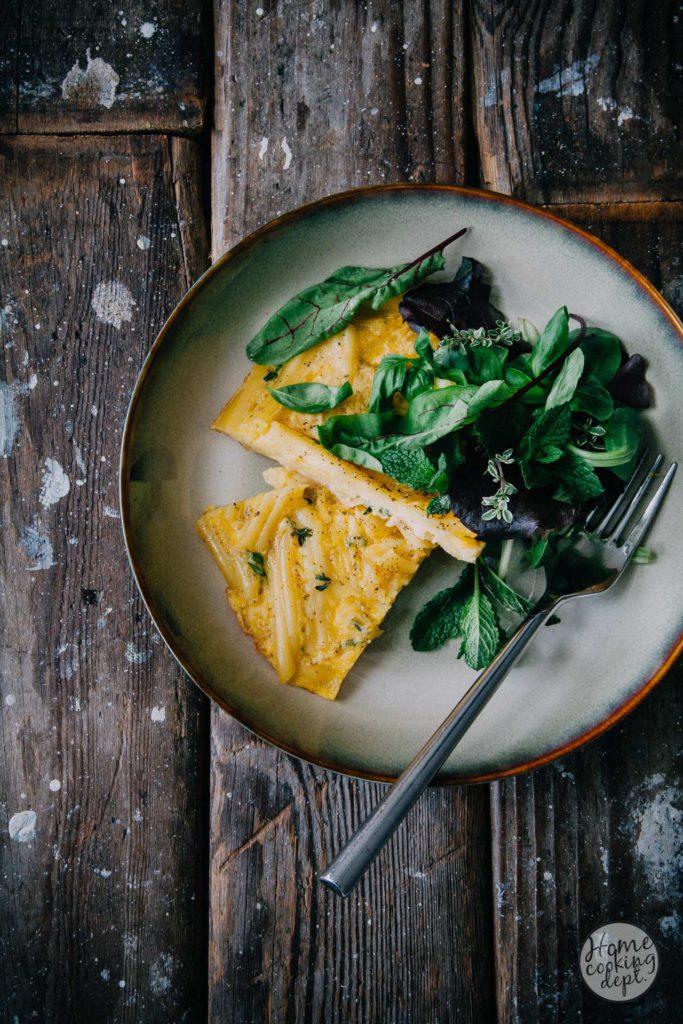 Kruiden frittata recept / fresh herb frittata recipe / Homecooking dept.